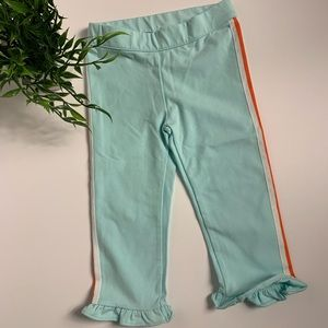 Janie and Jack pants with ruffle and side stripe